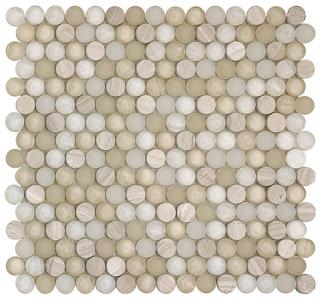 "SoBe Sand Penny Round Mosaic (12.4""x11.5"" Sheet)"