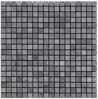 "Wooden Silver 5/8""x5/8"" Mosaic Tile (12""x12"" Sheet)"