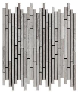 "Wooden White Sticks Mosaic Tile (11.3""x11.7"" Sheet)"