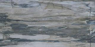 """Mariner - 12""""x24"""" Petrified Wood Blue Polished Porcelain Tile (Rectified Edges)"""