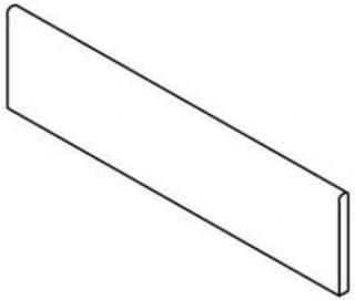 """Mariner - 2.4""""x24"""" Petrified Wood White Polished Porcelain Bullnose Tile"""