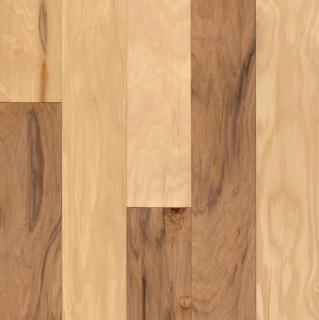 "Hartco - American Scrape 3/8""x5"" Natural Hickory Engineered Hardwood Flooring w/ Densitek"