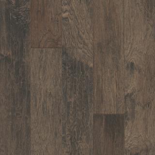 """Hartco - American Scrape 3/8""""x5"""" Northern Twilight Hickory Engineered Hardwood Flooring w/ Densitek"""