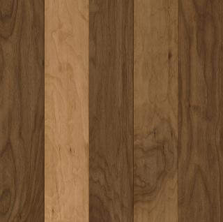 "Hartco - American Scrape 1/2""x5-3/4"" Natural Walnut Engineered Hardwood Flooring w/ Densitek"