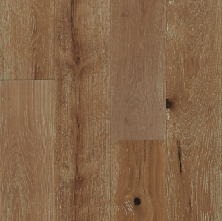 """Hartco - TimberBrushed Gold  1/2"""" thick x 7-1/2"""" wide Warm Cognac White Oak Engineered Hardwood Flooring"""