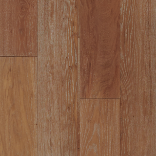 """Hartco - TimberBrushed Gold  1/2"""" thick x 7-1/2"""" wide Charcoal Heather White Oak Engineered Hardwood Flooring"""