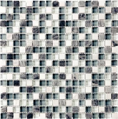 """Anatolia - 5/8""""x5/8"""" Bliss Waterfall Glass Stone Blend Mosaic Tile 35-007"""