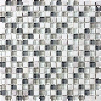 "Anatolia - 5/8""x5/8"" Bliss Iceland Glass Stone Blend Mosaic Tile 35-008"