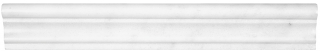 "2""x12"" Bianco Venatino Honed Marble Chair Rail Molding 77-340"