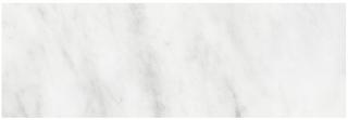 "6""x18"" Bianco Venatino Polished Marble Tile 72-353"
