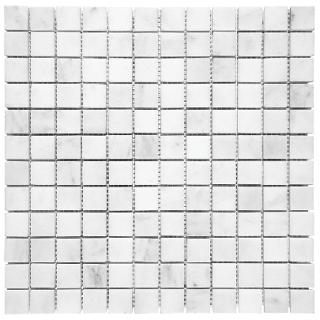 "1""x1"" Bianco Venatino Polished Marble Mosaic Tile 76-022"