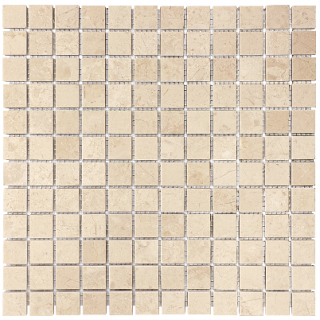 "1""x1"" Berkshire Crema Polished Marble Mosaic Tile 76-023"