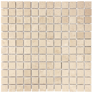 "1""x1"" Berkshire Crema Honed Marble Mosaic Tile 76-017"