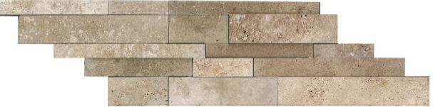 Honed Cubics Noce Travertine Cambria Strip 76-311