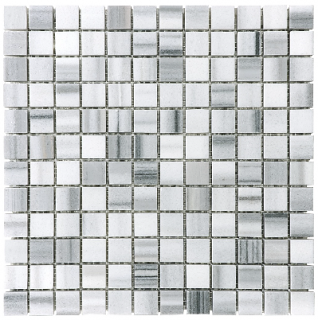 "1""x1"" Fluid Polished Marble Mosaic Tile 76-330"