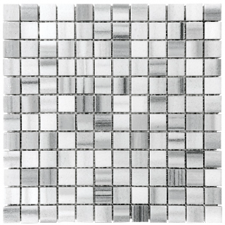 "1""x1"" Fluid Honed Marble Mosaic Tile 76-334"