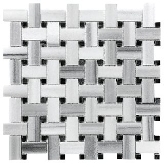 Fluid Basketweave Honed Marble Mosaic Tile 76-335