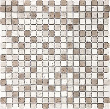 "Anatolia - 5/8""x5/8"" Khaki Blend Mosaic Tile (12""x12"" Sheet)"