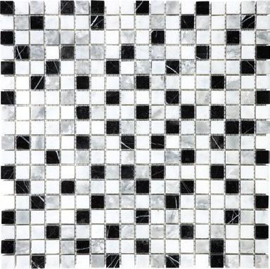 """Anatolia - 5/8""""x5/8"""" Glacier Blend Mosaic Tile (12""""x12"""" Sheet)"""