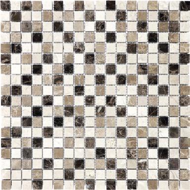 "Anatolia - 5/8""x5/8"" Emperador Blend Mosaic Tile (12""x12"" Sheet)"