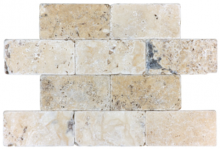 "Anatolia - 3""x6"" Picasso Travertine Tumbled Tile 73-036"