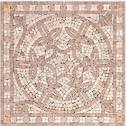 "16""x16"" Mosaic Travertine Medallion - Renaissance"