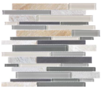 "Bliss - Fossil Rock Linear Strip Mosaic (12""x12"" sheet)"